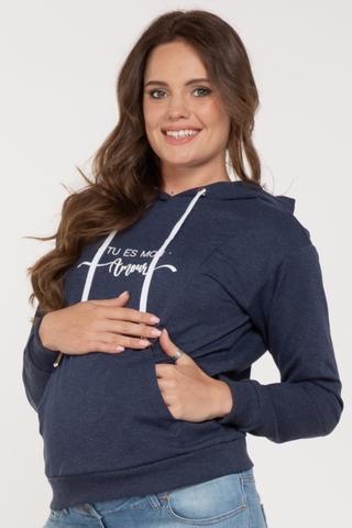 Худи для беременных и кормящих 11700 индиго