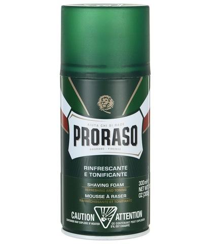 Пена для бритья Proraso 300мл зеленая эквалипт ментол