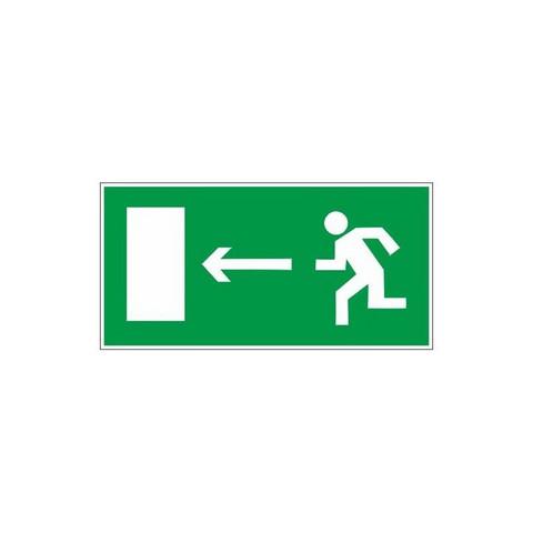 Знак Е04 Направление к эвакуационному выходу налево пластик ПВХ с ф/л покрытием 300х150х2 мм