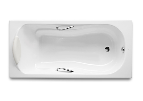 Чугунная ванна Roca Malibu 150x75см. с отверстиями для ручек 2315G000R