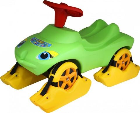 Каталка Мой любимый автомобиль зелёная со звуковым сигналом многофункциональная