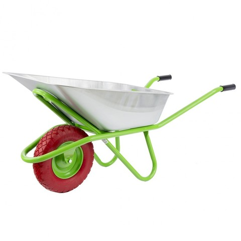 Тачка садово-строительная с PU колесом, грузоподъемность 180 кг, объем 90 л Сибртех