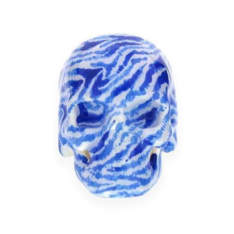 Кольцо Череп (принт зебра)