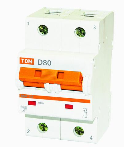 Авт. выкл. ВА47-125 1Р 80А 15кА х-ка D TDM