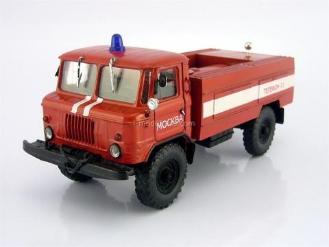GAZ-66 tanker Fire engine AC-30 Agat Mossar Tantal 1:43
