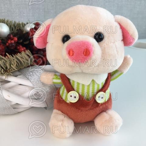 Поросёнок брелок Мистер Хрю символ 2019 года свинья (салатовый-коричневый)