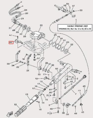 Зажим для лодочного мотора F9,9 Sea-PRO (17-46)