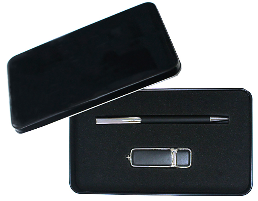 Подарочный набор + ежедневник + ручка + флешка 16 Гб или 64 Гб