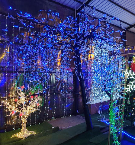 Дерево светодиодное Ива  ширина 3.0m  высота 3.0m  1920 диодов  цвет синий  мощность 70 Вт.  артикул GLQ -003-3.0M-LED-B  С ЭТИМ ТОВАРОМ ПОКУПАЮТ: