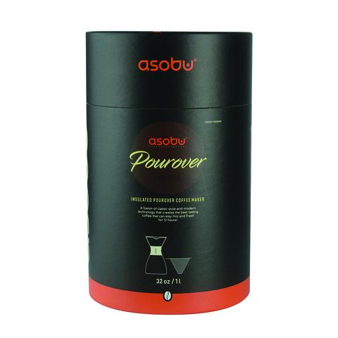 Кофеварка портативная Asobu Pour Over (1 литр), красная