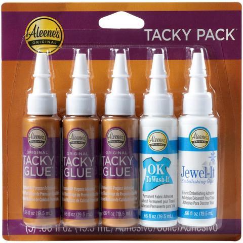 Клей Tacky glue 5 флаконов по 19,5 мл  original +ToWash-It + Jewel-It