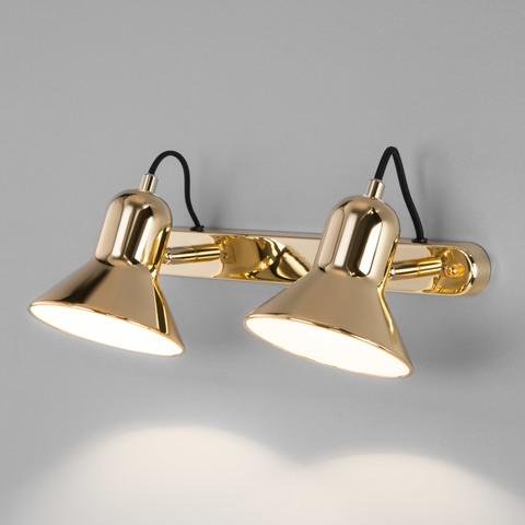 Настенный светильник с поворотными плафонами 20082/2 золото