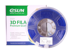 PLA+ пластик ESUN 1,75мм 1кг, Синий для 3D принтера
