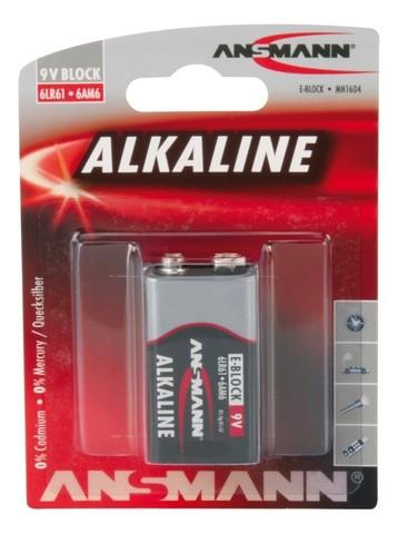 Батарейка ANSMANN Red Alkaline Е Крона (9V) - 1 шт.