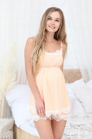 Пижама для беременных и кормящих 11019 персиковый