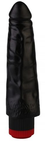 Черный реалистичный вибромассажер №3 - 17 см.