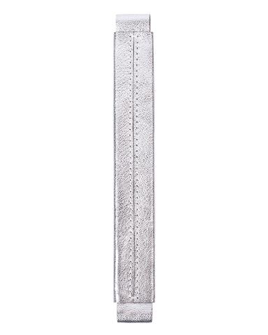 Сменная ручка из кожи с серебристым покрытием