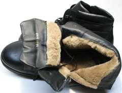 Теплые кеды зима мужские Ikoc 1608-1 Sport Black.