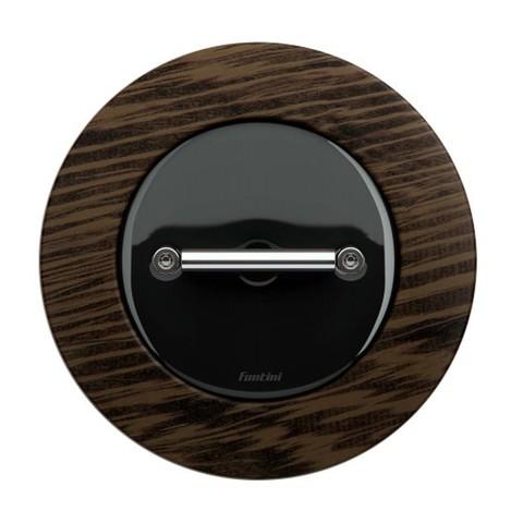 Выключатель/переключатель поворотный, промежуточный(перекрёстный, схема 7) 10 А, 250 В~. Цвет Чёрный. Fontini DO(Фонтини До). 33304272
