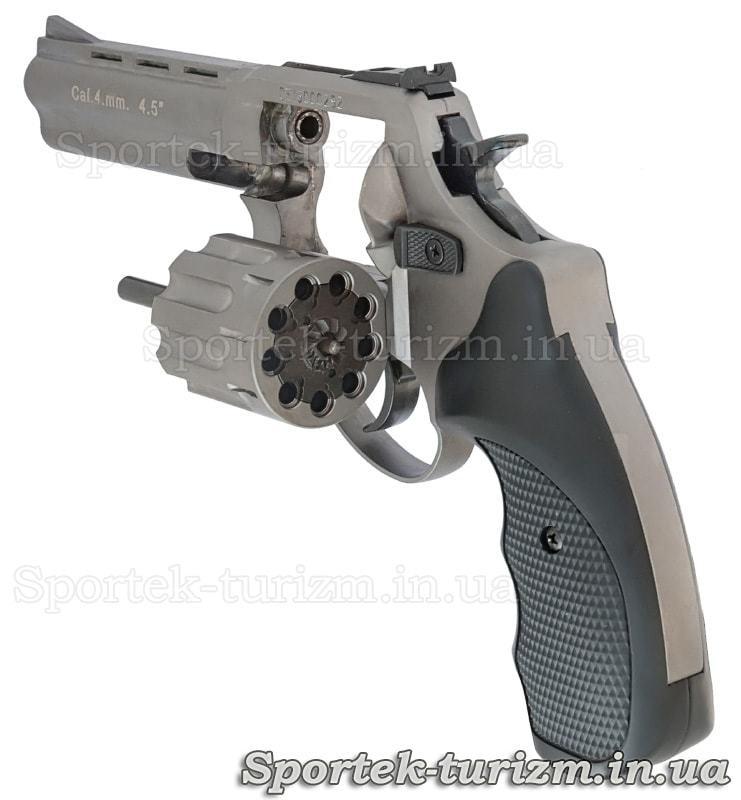 Ліва частина на відкритий барабан револьвера Сталкер під патрон Флобера 4 мм сріблястий.