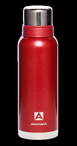 Термос Арктика (106-1200 красный) 1,2 литра с узким горлом американский дизайн, красный