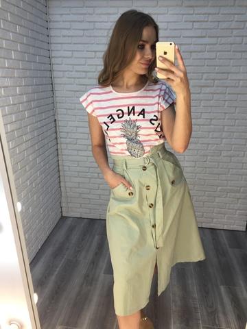 летняя зеленая юбка купить