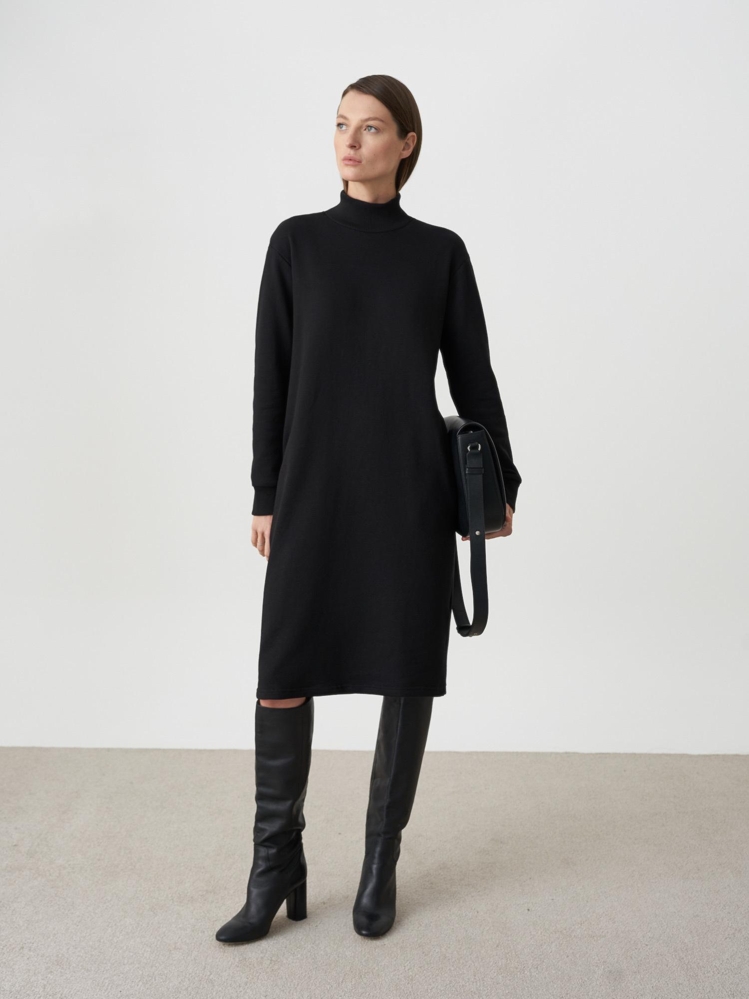 Платье-свитшот Bonnie со стойкой