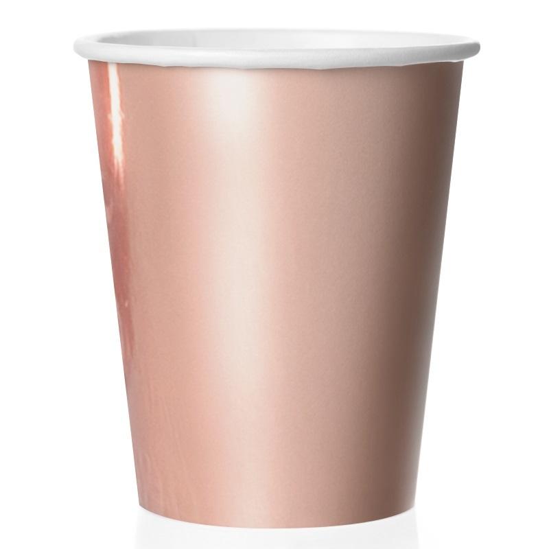 Стаканы (250 мл) Розовое Золото, 6 шт.