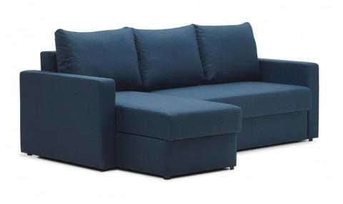 Угловой диван-еврокнижка Мекс 150, комплектация 3, синий