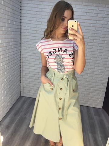 летняя зеленая юбка оптом