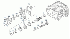 Шестерня промежуточного вала КПП МАН ТГА 26 зуб.  (ZF 1315 303 004, MAN 81.32302.0052, RVI 5001848217, Iveco 93190512)