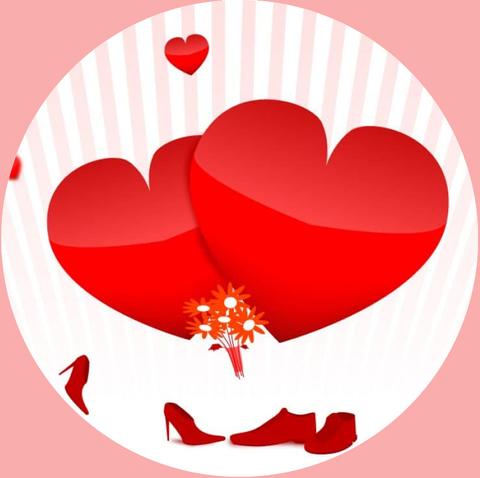 Печать на сахарной бумаге, День Влюбленных 18