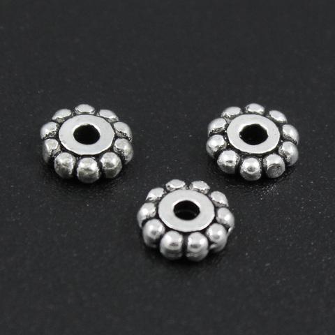 Рондель разделитель 6 мм серебро 925