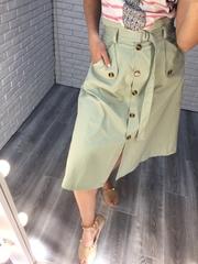 летняя зеленая юбка недорого