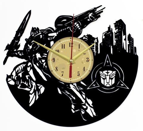 Трансформеры Часы из Пластинки — Оптимус Прайм