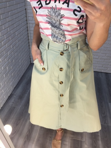 летняя зеленая юбка nadya