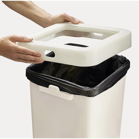 Контейнер для мусора с двумя баками Totem Pop 60 л белый