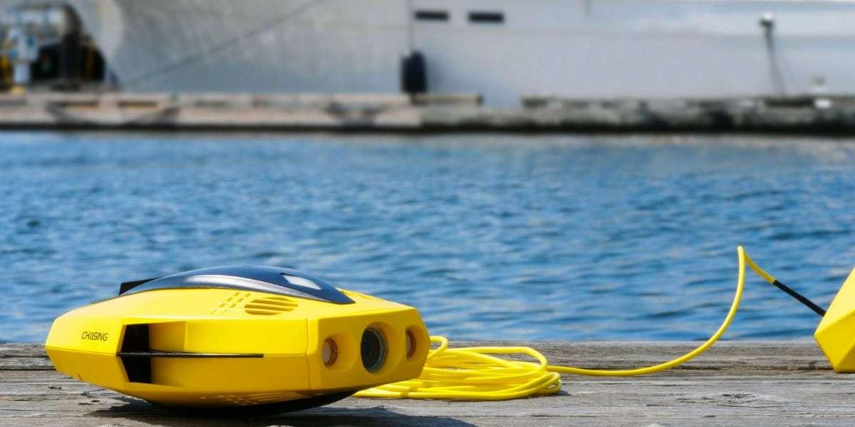 Подводный дрон Chasing Dory на берегу