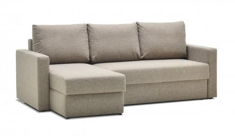 Угловой диван-еврокнижка Мекс 150, комплектация 3, темно-бежевый