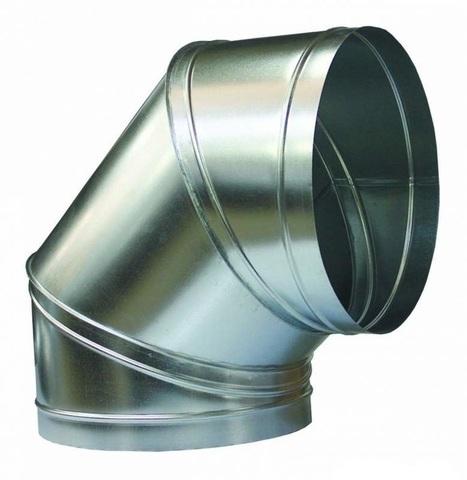 Отвод (угол) 90 градусов D 355 оцинкованная сталь
