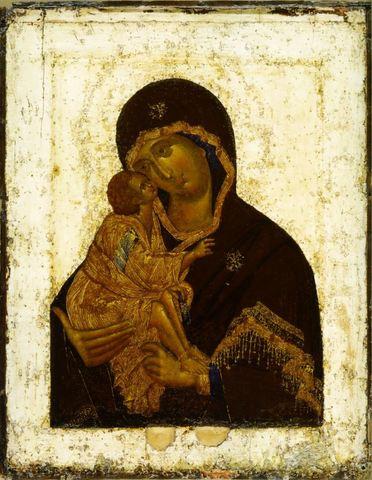 Икона Божией Матери Донская на дереве на левкасе мастерская Иконный Дом