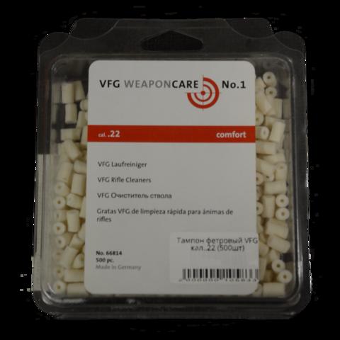 Патч фетровый VFG кал. 5,5/.22 мм (500 шт.)
