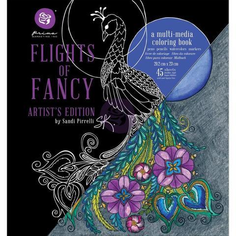 Книга-раскраска Coloring Book - Prima Marketing-  Sandi Pirrelli Flights Of Fancy 45 Sheet