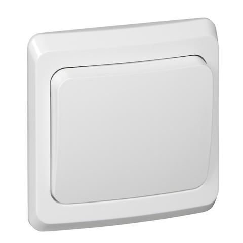 Выключатель одноклавишный (схема 1) 10 АХ 250 В. Цвет Белый. Schneider Electric(Шнайдер электрик). Этюд. BC10-001B