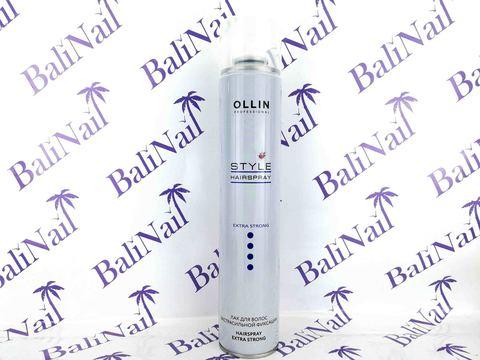OLLIN STYLE Лак для волос экстрасильной фиксации 450мл