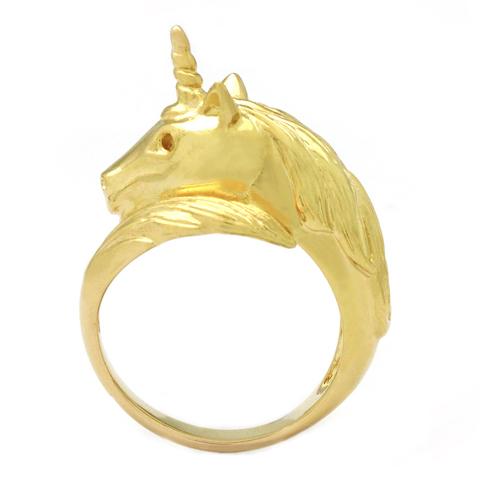 Кольцо Единорог (золотой)