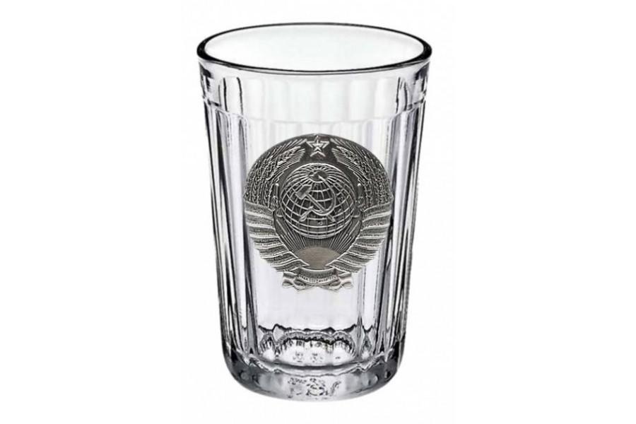 цена на Граненый стакан «Советский» с барельефом «Герб СССР»
