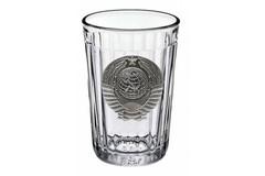 Граненый стакан «Советский» с барельефом «Герб СССР», фото 1