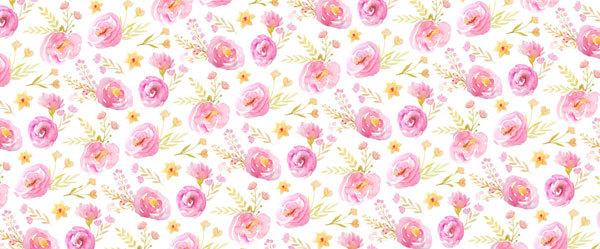 Водорастворимая бумага Модульный цветочный орнамент 2