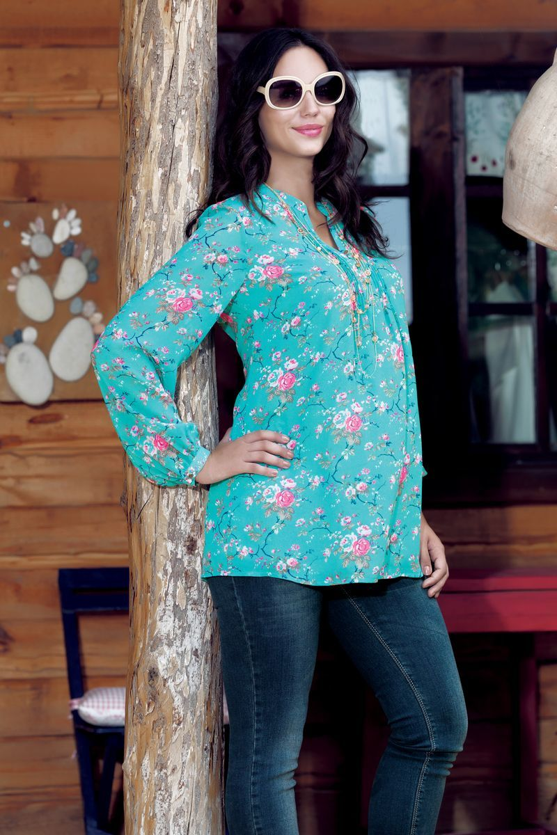 Фото джинсы для беременных EBRU, прямые, средняя посадка, высокая вставка от магазина СкороМама, синий. размеры.